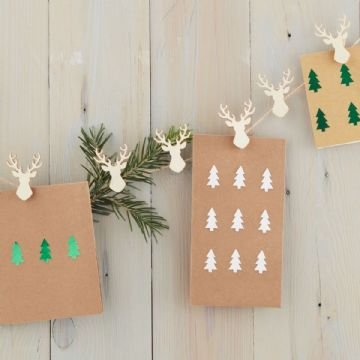 Stag Head Peg Christmas Card Holder